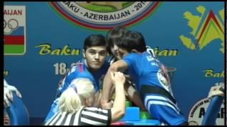 JUNIOR DISABLED MEN RIGHT 65KG   RESULOV, XIDIR AZERBAIJAN 1096 vs VILAYAT, NAMAZZADA AZERBAIJAN 105