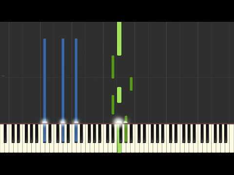 Nuvole Bianche - Ludovico Einaudi - Piano Tutorial (Synthesia/Sheet Music/Piano Cover)