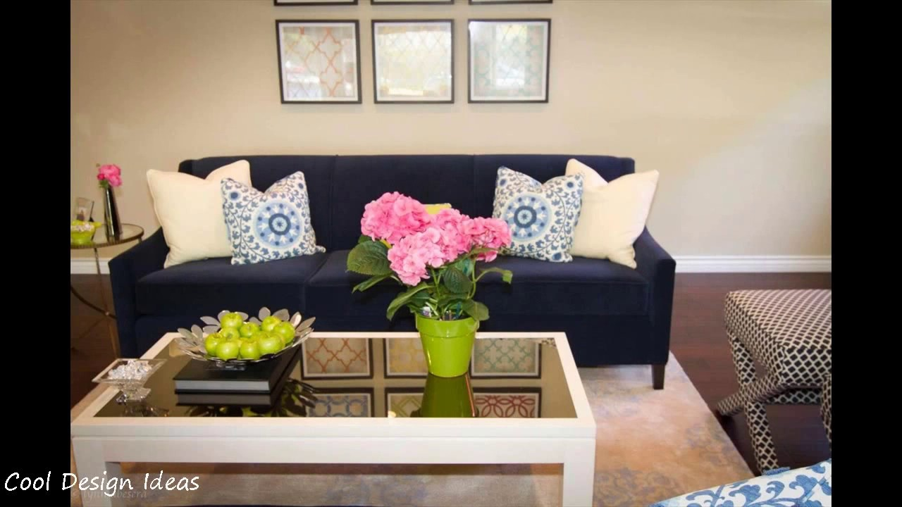 Living Room Ideas with Navy Blue Sofa - YouTube