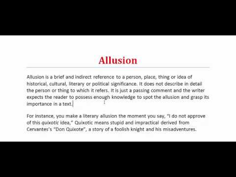Allusion What Is Allusion Figure Of Speech Literary Terms Youtube