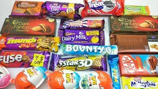 Bounty, Perk, Double milk, Munch Nuts unboxing only