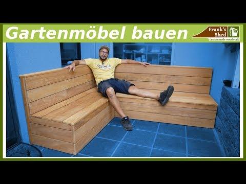 Gartenmöbel aus Holz bauen |  Sitzbank für Terrasse selber bauen | DIY