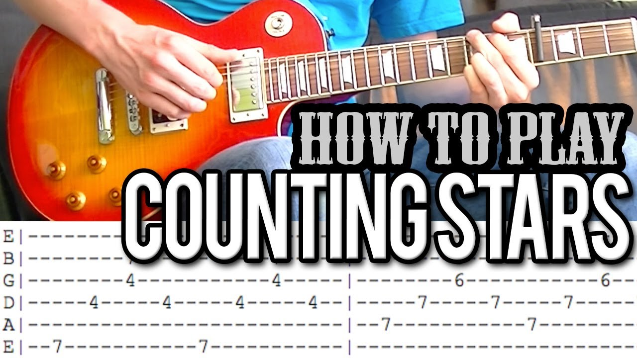 Onerepublic Counting Stars Guitar Lesson With Tab Youtube