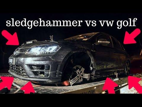 EXPERIMENT: SLEDGEHAMMER VS VOLKSWAGEN GOLF