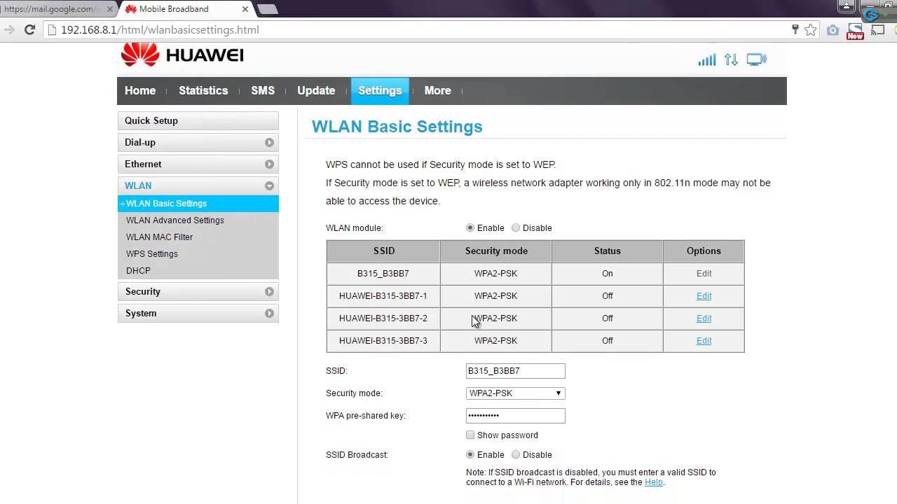 Huawei b315 konfiguracja vpn