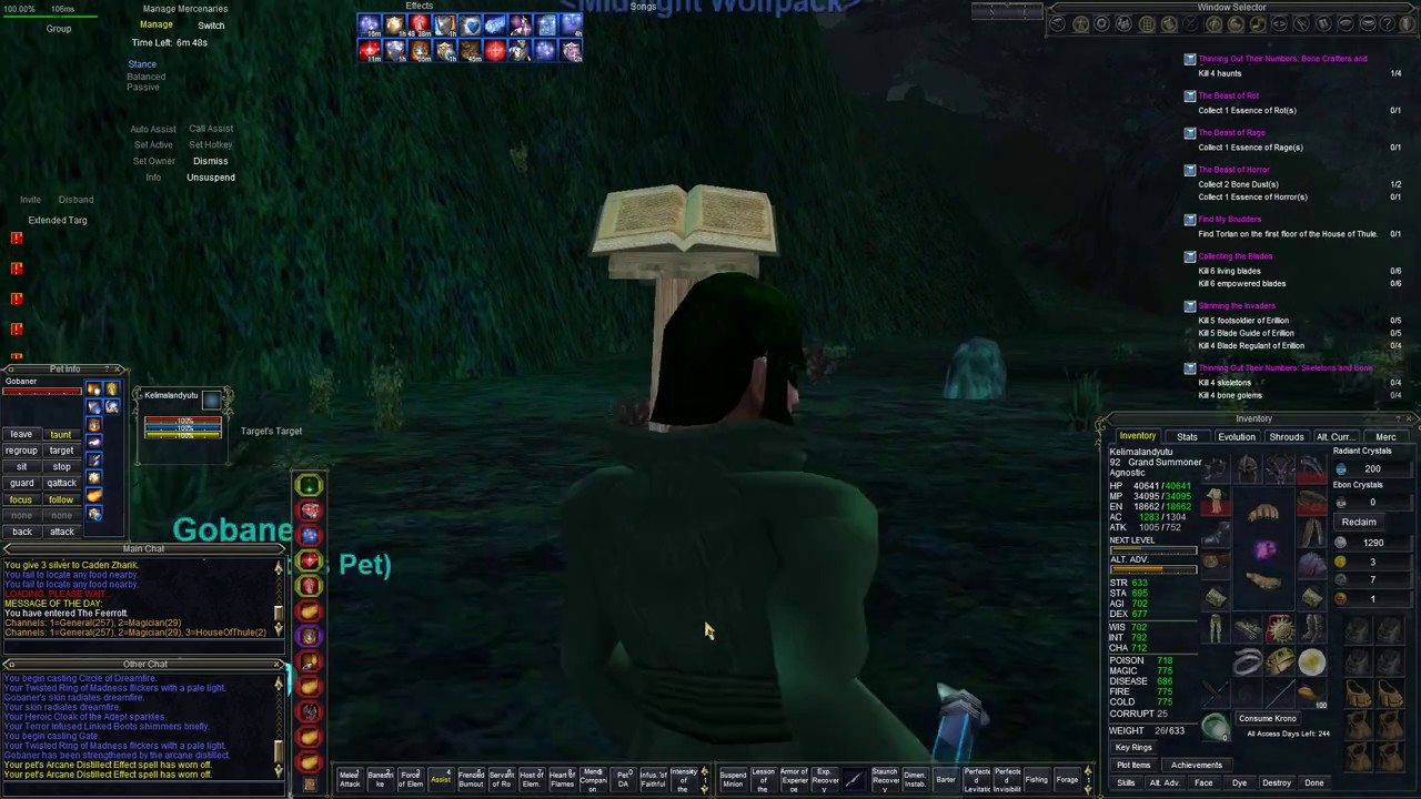 EverQuest : Tradeskills : The safest place to fish in Feerrott, the Dream