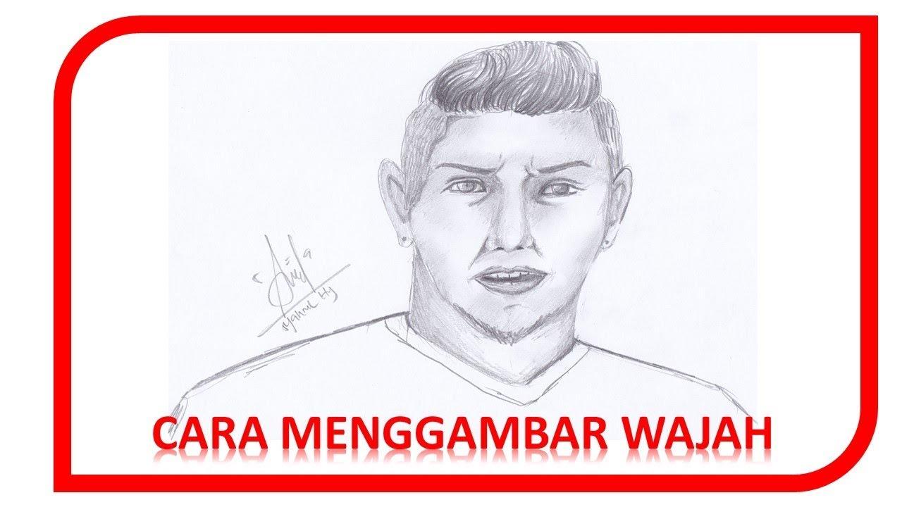 Cara menggambar sketsa wajah menggunakan pensil simple drawing