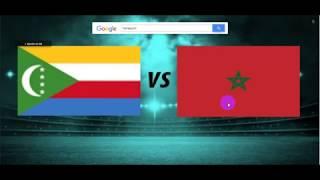 Comores vs Maroc live 13H00 GMT+1