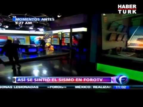 Meksika TV kanalı depreme canlı yayında yakalandı