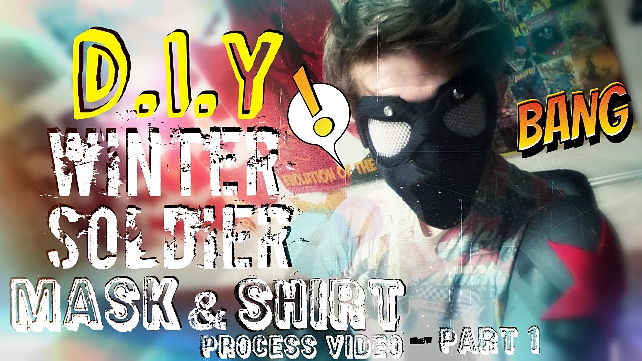 How to Make A Winter Soldier Costume   Face Mask & Shirt Base   Part 1 -  Process Video