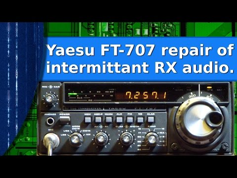 Ham Radio - Yaesu FT 707 quick repair of intermittent no RX audio