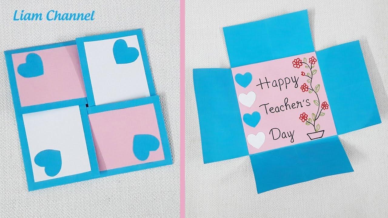 Cách làm thiệp 20/11 tặng thầy cô đơn giản nhất (Kiểu 7) | DIY Teacher's Day card | Liam Channel