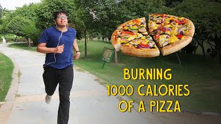 Burning 1000 Calories Of A Pizza   Ok Tested