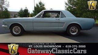 1965 Ford Mustang Stock #7078 Gateway Classic Cars St. Louis Showroom