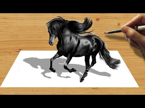 SHRISHTI ARTS | Tremendous 3D Black Horse Art