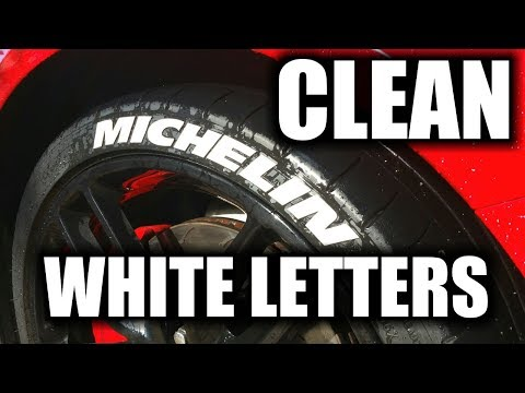 How To Clean White Tire Letters | Easy And Simple | Fast Method