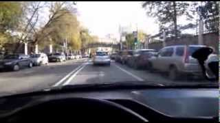 My riding on Volvo 960 along Moscow streets