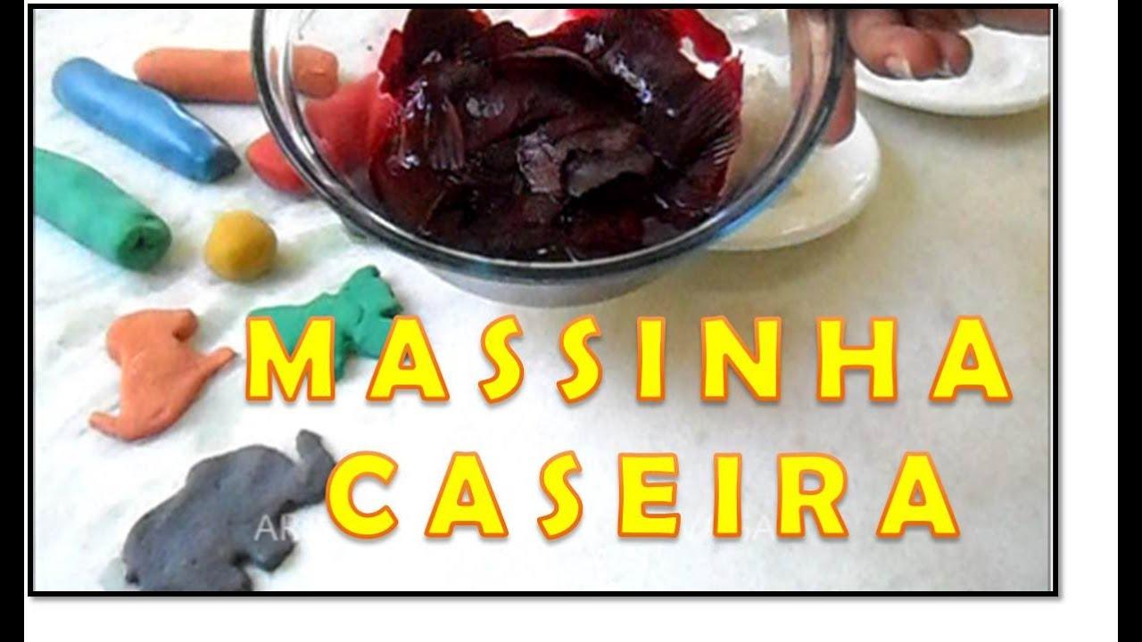Ideias Artesanato Halloween ~ COMO FAZER Massinha de Modelar Caseira, diy Artesanato Fácil (Corante Natural) YouTube