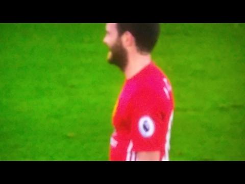 Juan Mata Terrible Tackle On Jamie Vardy