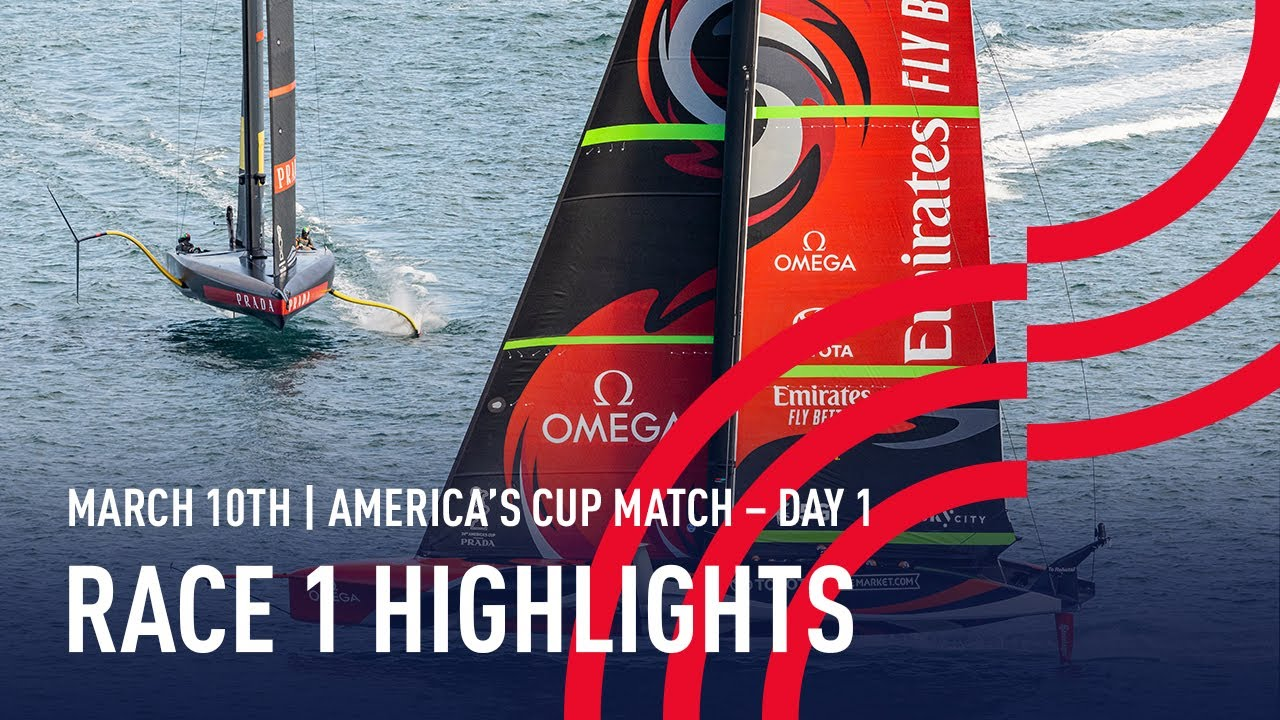 36th America's Cup Race 1 Highlights