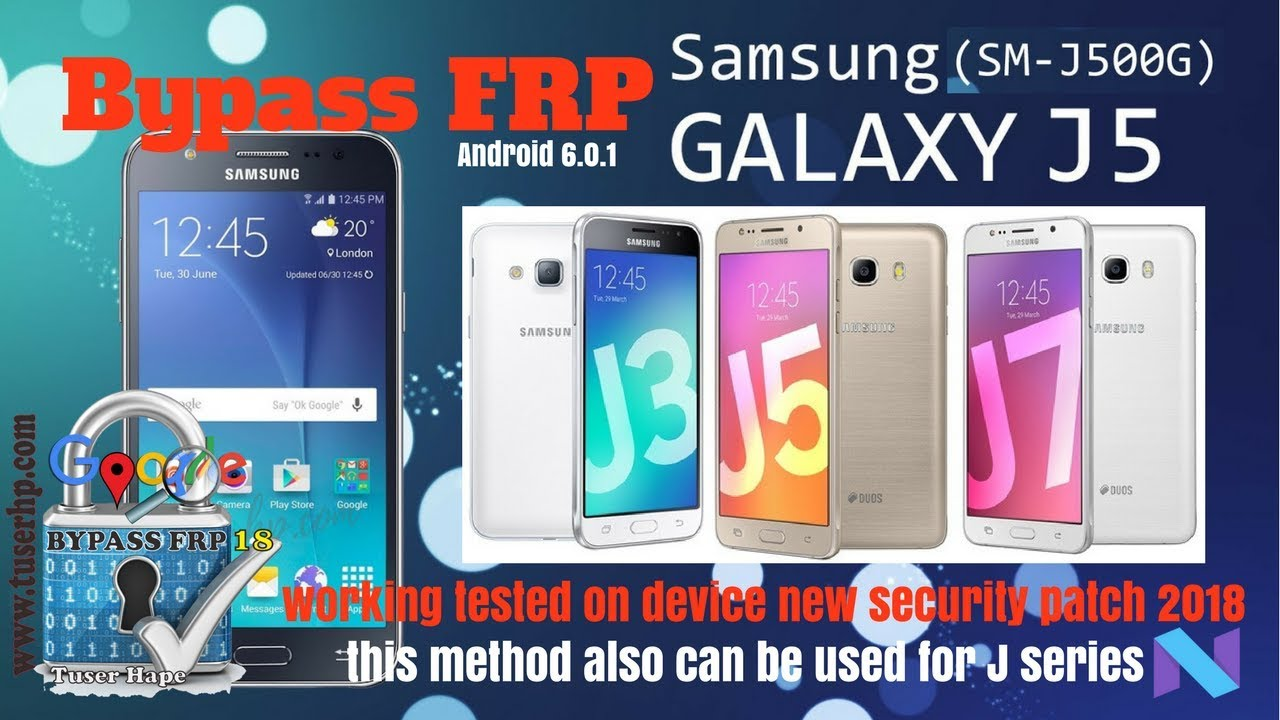 Bypass Frp Samsung J5 Sm J500g Android 6 0 1 New Method 2018 Youtube