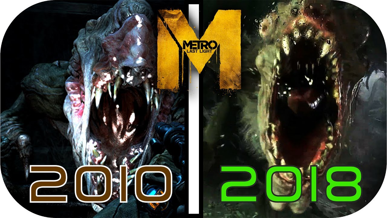 Evolution Of Metro 2010 2017 2018 Video Game Graphics