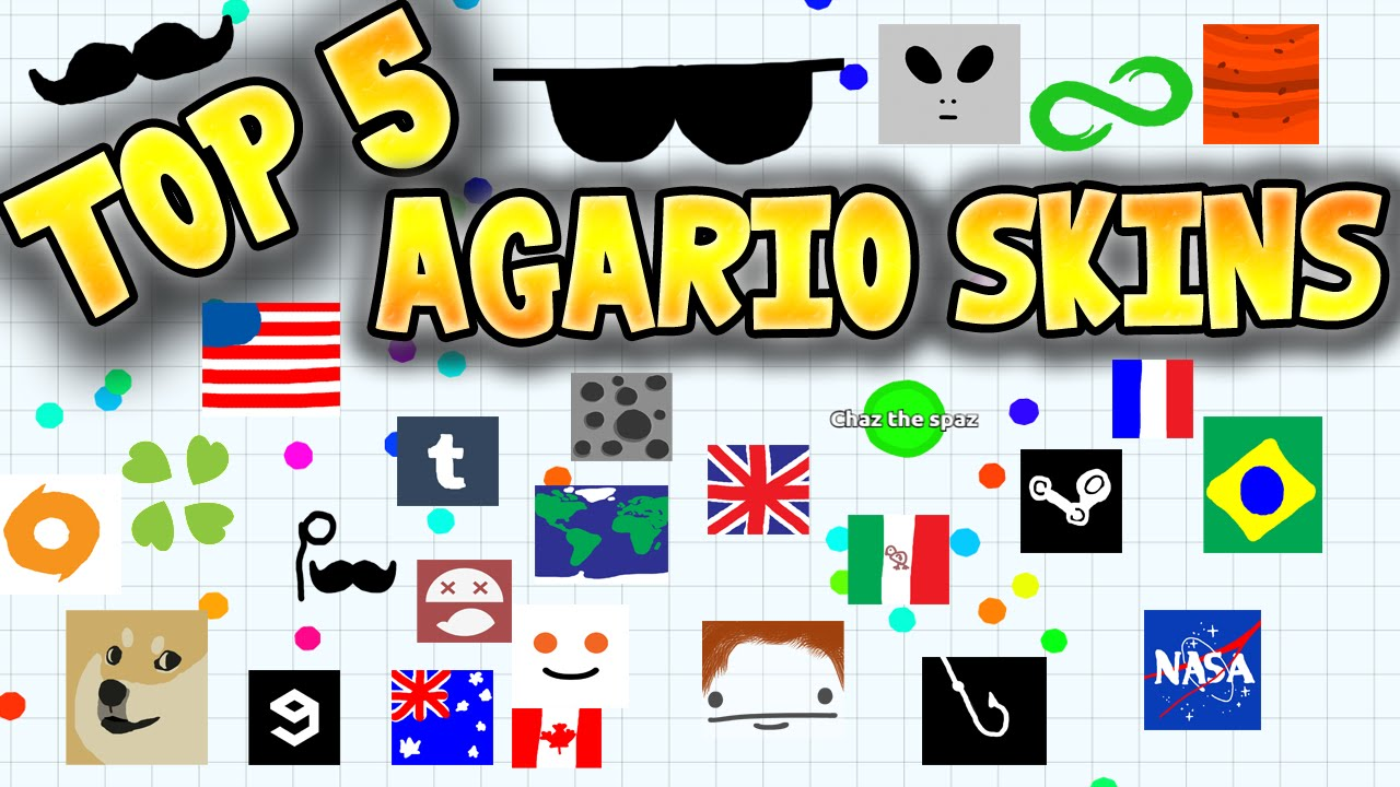 TOP 5 AGARIO SKINS! - YouTube