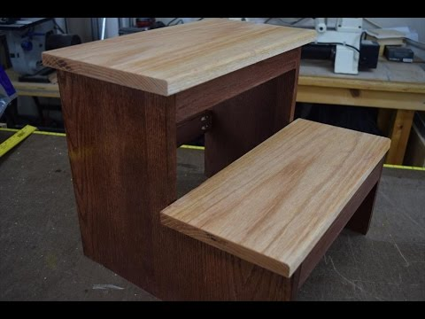 How To Make A Step Stool Woodlogger Com Youtube