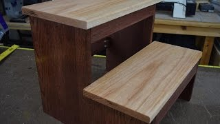 How To Make A Step Stool (woodlogger.com)