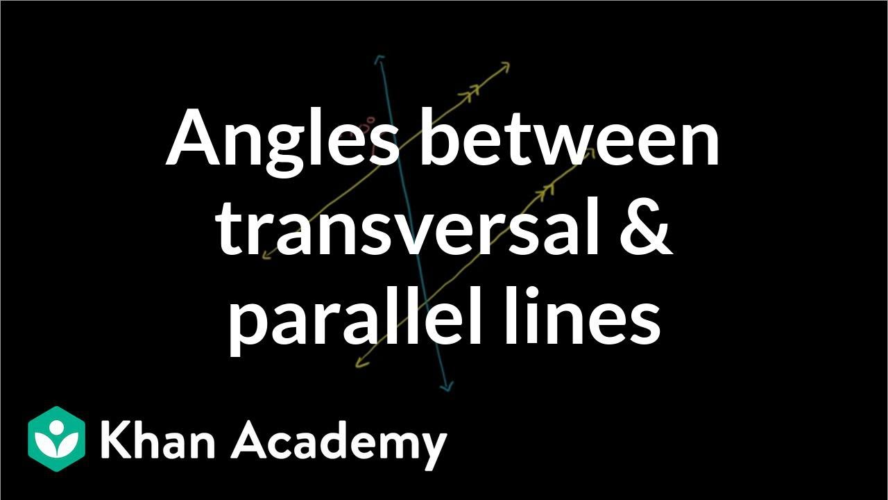 medium resolution of Missing angles with a transversal (video)   Khan Academy
