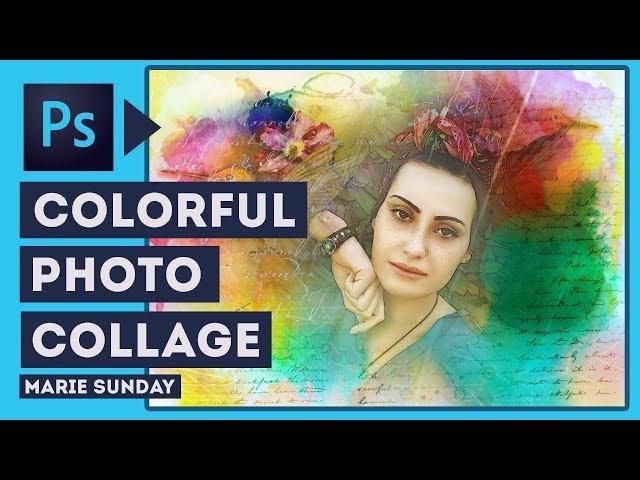 Photoshop Colorful Portrait Tutorial 2018