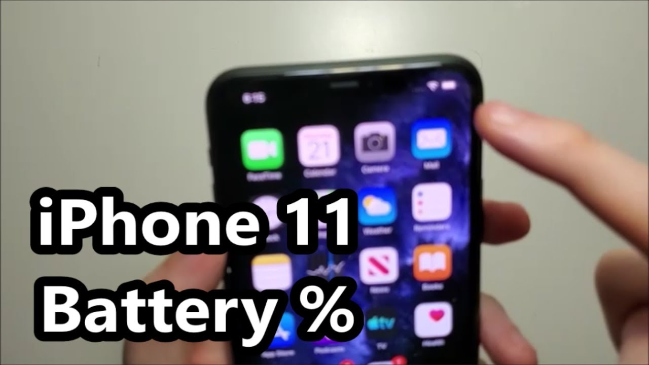 Iphone 11 How To View Battery Percentage Youtube