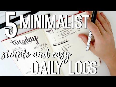 Simple & Easy Minimalist Bullet Journal Daily Log Ideas