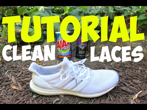 ULTRABOOST SHOE LACE CLEANING TUTORIAL