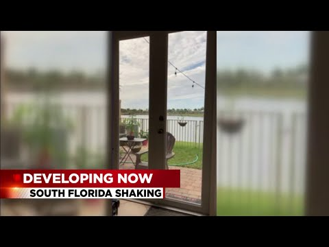 What's shaking in South Florida? It wasn't an earthquake.
