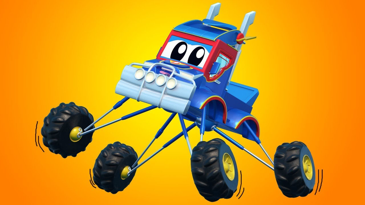 Video truk untuk anak-anak - Kartun TRUK MONSTER Terbaik - Truk Super di Kota Mobil!