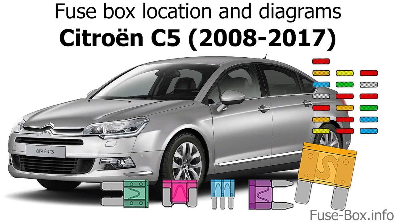 fuse box location and diagrams citroen c5 2008 2017  [ 1280 x 720 Pixel ]