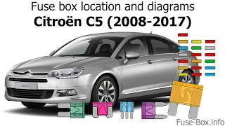 fuse box location and diagrams: citroen c5 (2008-2017) - youtube  youtube