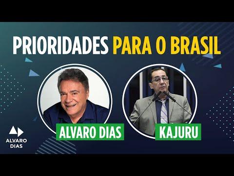 Senador Alvaro Dias participa de entrevista para o programa Kajuru sem Off