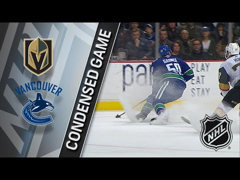 04/03/18 Condensed Game: Golden Knights @ Canucks