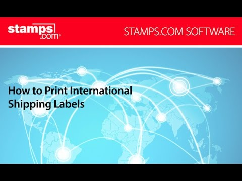 Stamps.com - How to Print International Shipping Labels