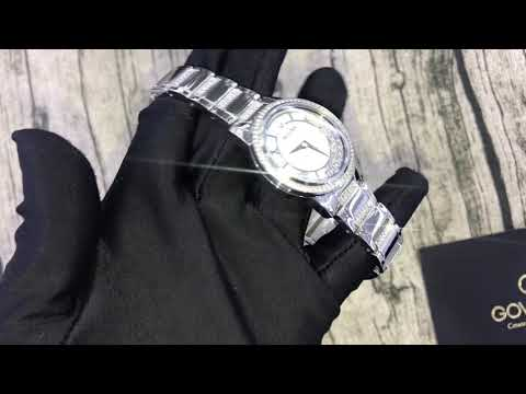 BULOVA Crystal Mother Of Pearl Dial Ladies Watch 96L257