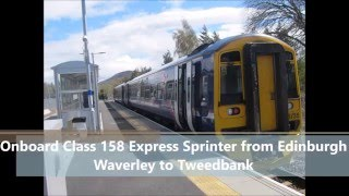 Onboard Class 158 Express Sprinter from Edinburgh Waverley to Tweedbank