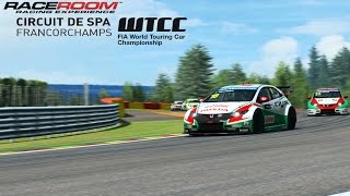 R3E Spa-Francorchamps WTCC Gameplay (PC HD)