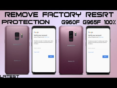 FRP 2018 SAMSUNG GALAXY S9 S9+ PLUS V8 0 0  BYPASS GOOGLE ACCOUNT