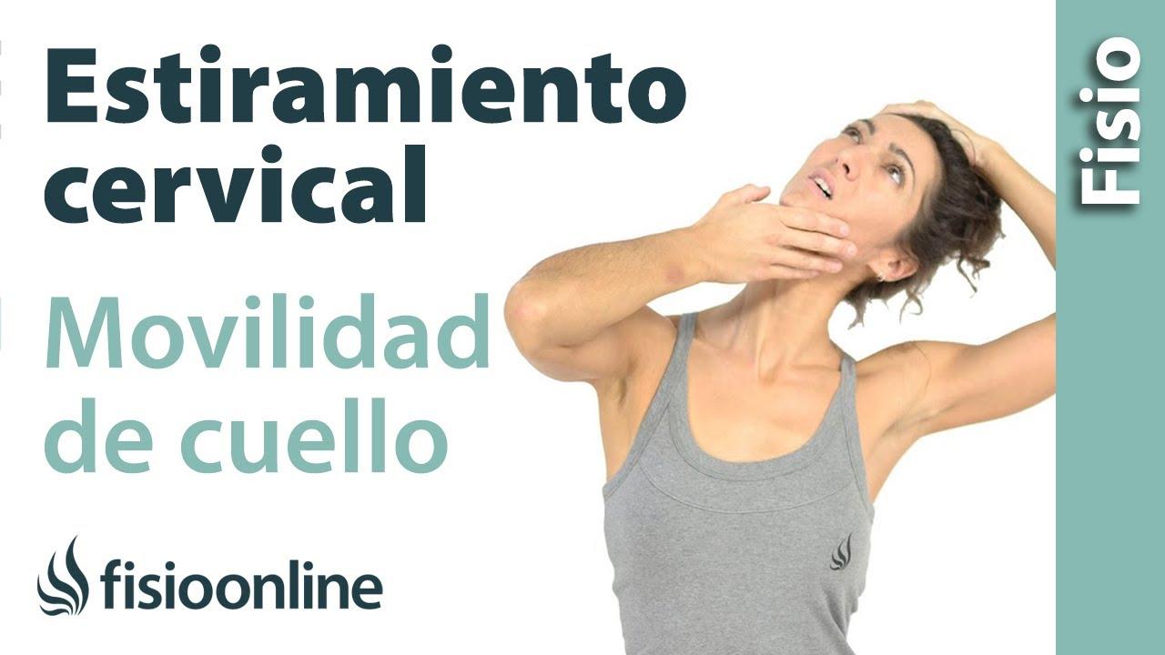 Estiramiento cervical para la movilidad de cuello, trapecios y ...