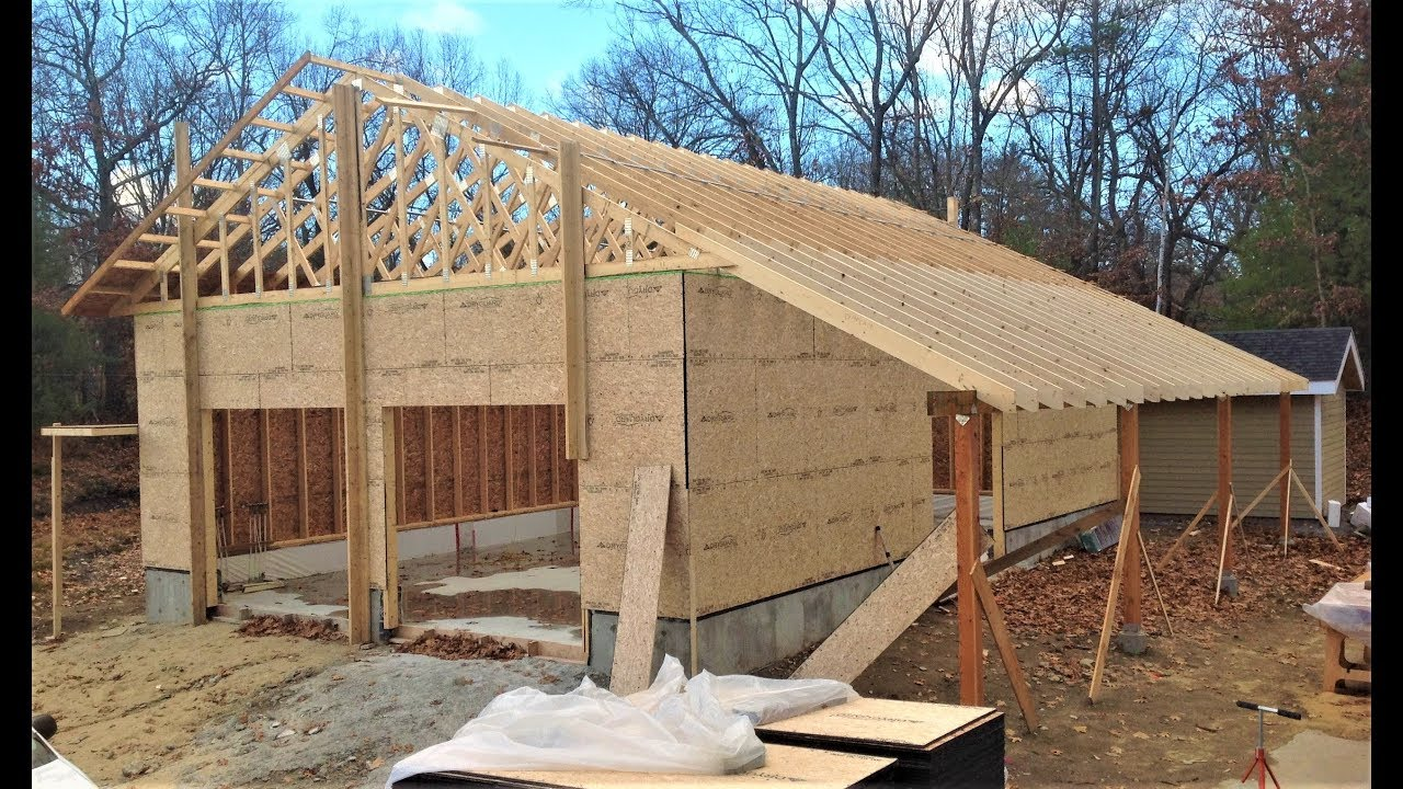Advanced Framing For Energy Efficient Garage Workshop