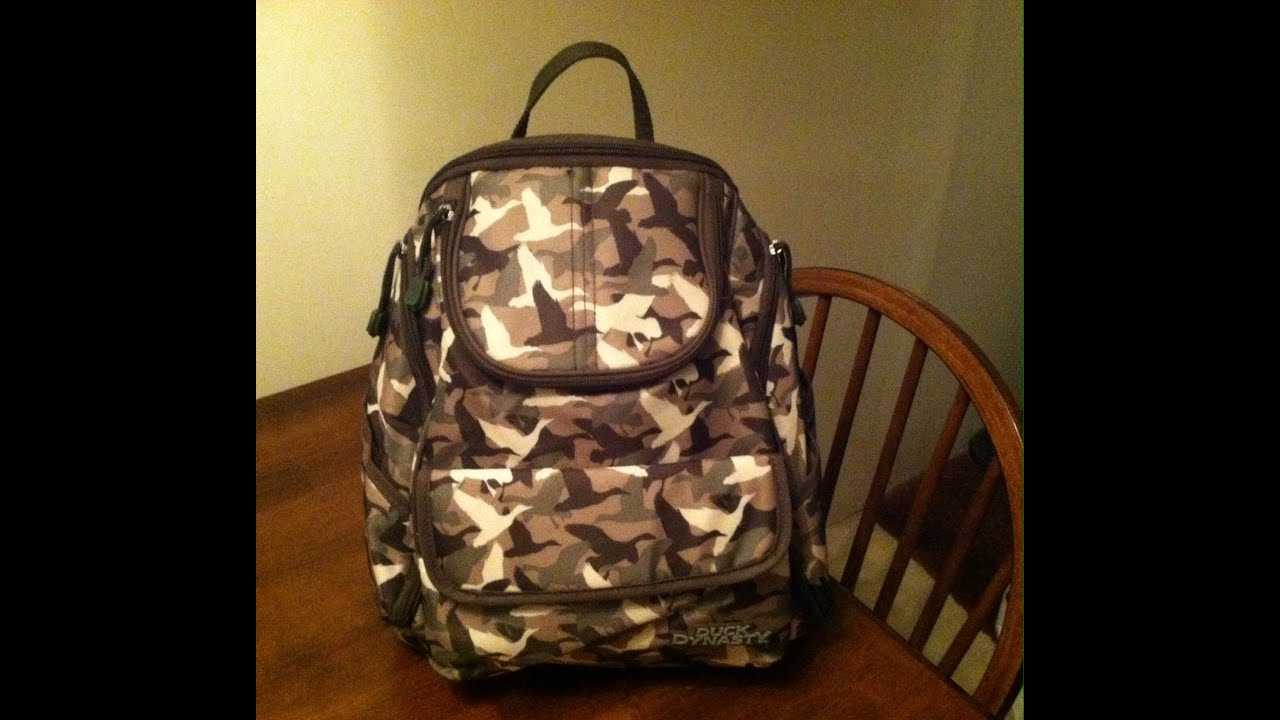2017 Duck Dynasty Backpack Diaper Bag Review