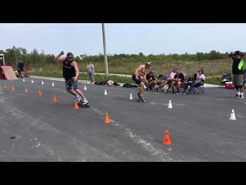 Skateboard slalom world championship Pro final 2017 Cornwall, CAN.