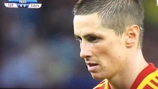 Fernando Torres missed Penalty Vs Tahiti 20.06.2013 HD